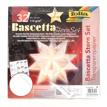 Papírová hvězda Folia Bascetta