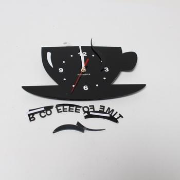 Nástěnné hodiny Flexistyle CUP černé