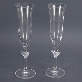 Sklenice na šampaňské Stölzle Lausitz srdce
