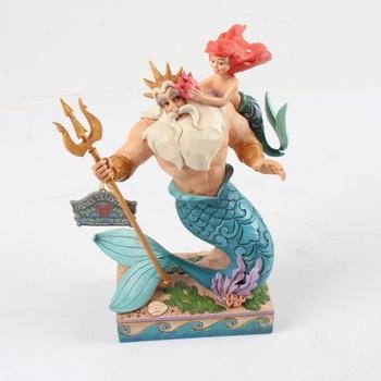Plastová dekorace Disney Triton a Ariel