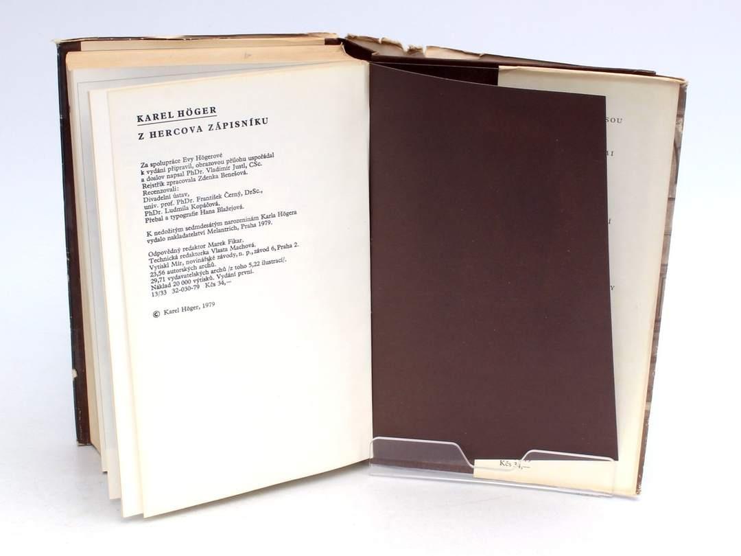 Kniha Z hercova zápisníku Karel Höger