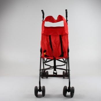 Dětský kočárek golfky červené barvy