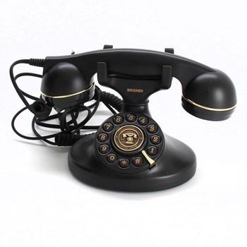 Nostalgický klasický pevný telefon Brondi