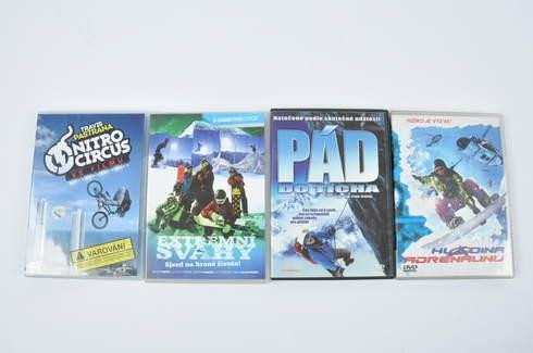 4x DVD - Extrémní svahy, Pád do ticha a další