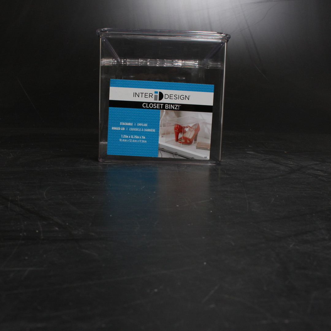 Plastový box s víkem InterDesign Closet Binz