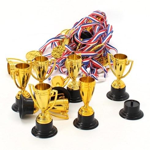 Sada medailí na trofeje Fepito zlatá 30 kusů