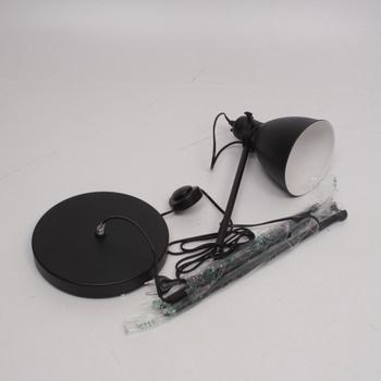 Stojací lampa černá 165 cm
