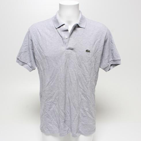 Pánské tričko s límečkem Lacoste L1212 šedé