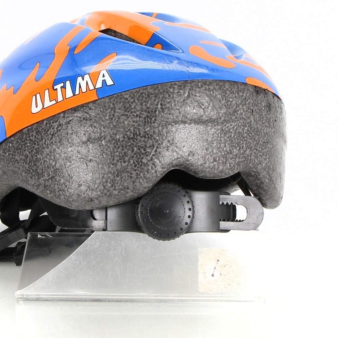 Dětská helma Ultima modrooranžová