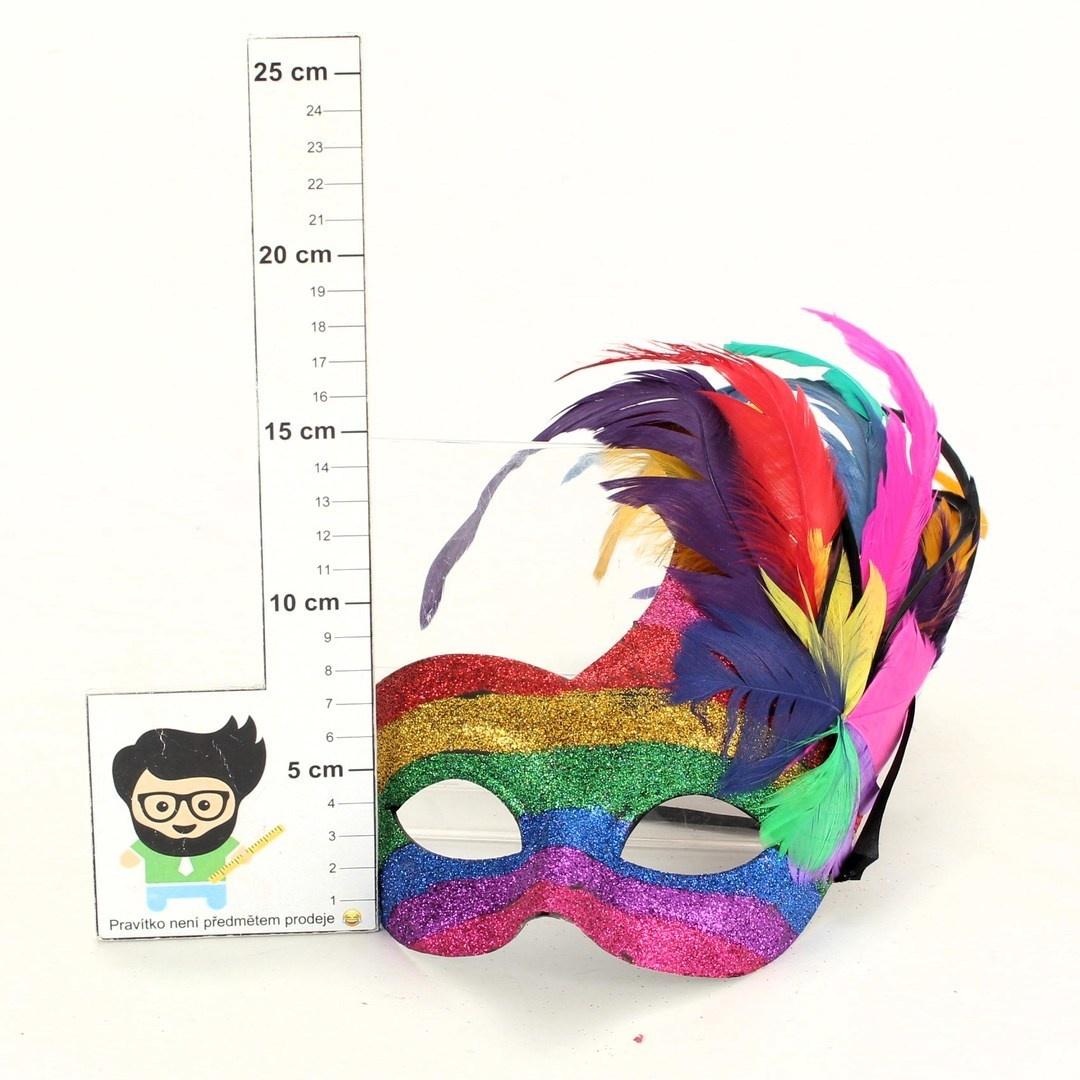 Karnevalová maska Boland s peřím