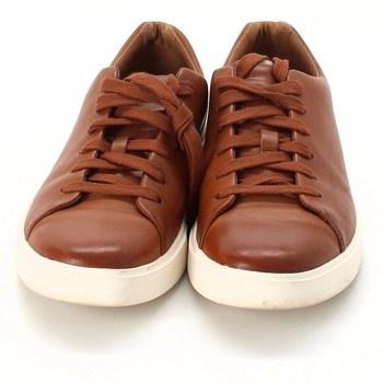 Pánské boty Clarks hnědé s tkaničkami