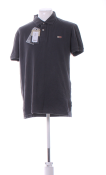 Pánské tričko Napapijri tmavě šedé