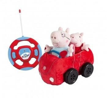 RC rodinné plyšové auto Peppa Pig 23203