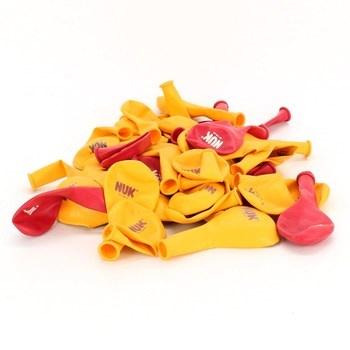Nafukovací balónky Nuk žluté a červené