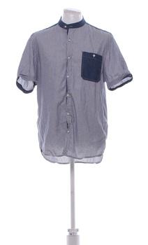 Pánská košile Reserved modrá krátký rukáv