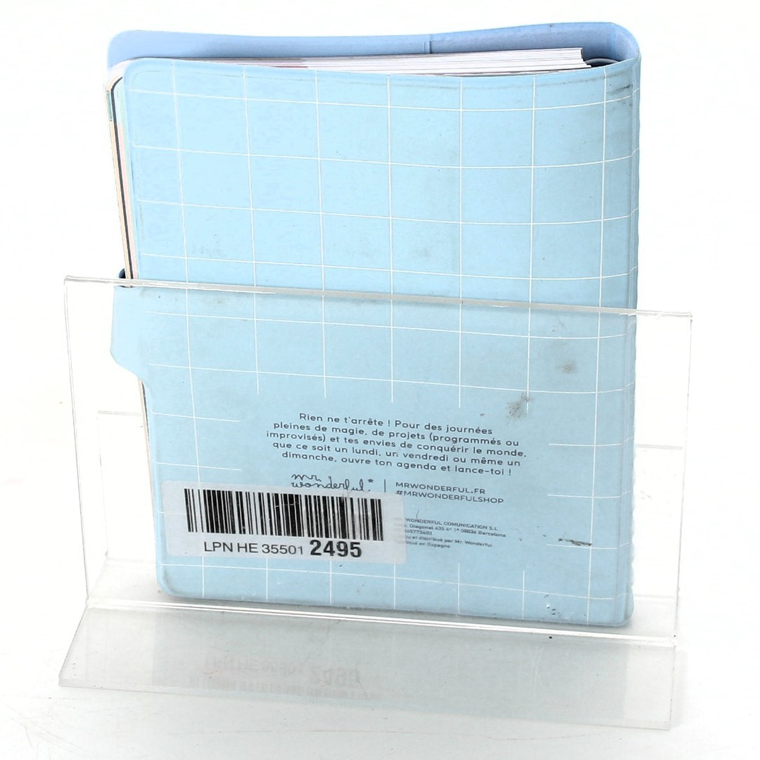 Spirálový diář s PVC obalem modrý