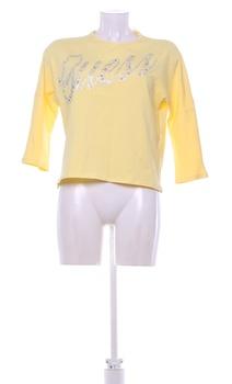 Dámské tričko žluté s nápisem Guess
