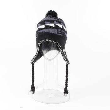 5fcba9b2334 Zimní čepice černo šedo bílá
