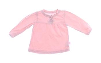 Dětské tričko Okay růžové s knoflíky