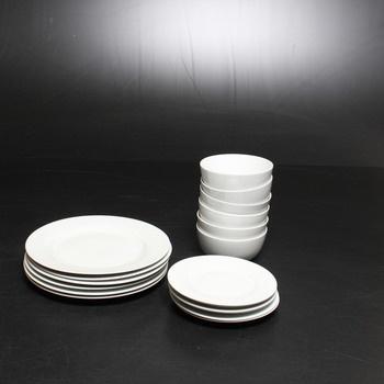 Porcelánová sada AmazonBasics CX01BI 18 kusů