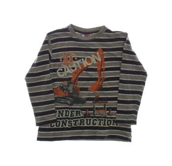 Dětské tričko KIK Caution pruhované