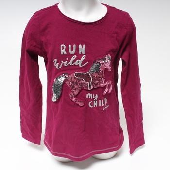 Dívčí tričko s.Oliver fialové