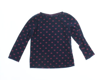 Dětské tričko Lupilu modré se srdíčky