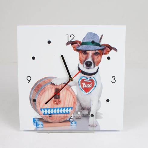 Nástěnné hodiny Poste Italiane s pejskem