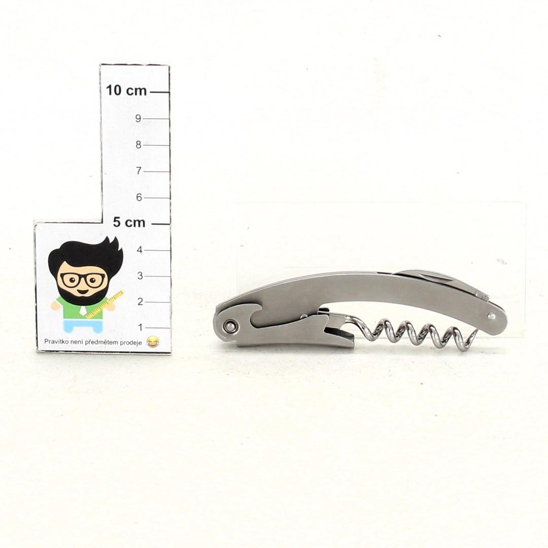 Nerezový kapesní nůž s vývrtkou a otvírákem