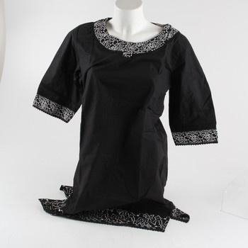 Dámské šaty Admas černé s bílým zdobením