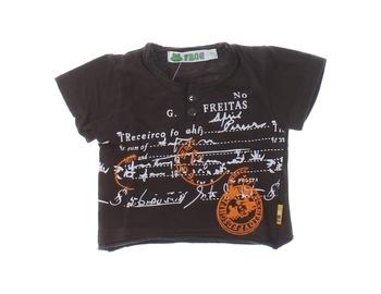 Kojenecké tričko s potiskem FROG hnědé