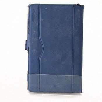 Modrý kožený obal na tablet