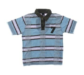 Dětské polo tričko Next modré s pruhy