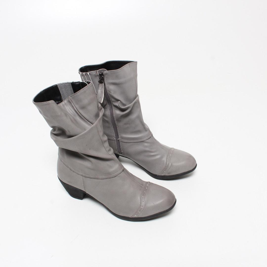 Kotníkové boty Andrea Conti 0616628 šedé 39