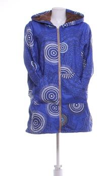 Dámská podzimní bunda s kapucí modrá XXXL