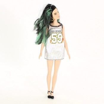 Módní panenka Barbie se zelenými vlasy