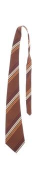 Pánská kravata Hedva hnědá pruhovná