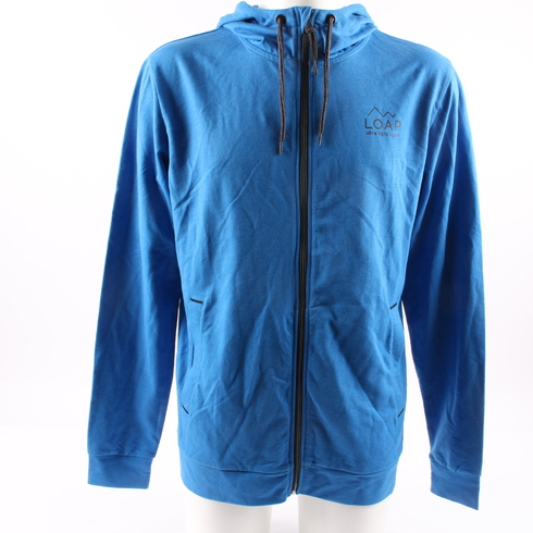 Pánská mikina Loap modrá s kapucí na zip - bazar  7555c41b8d4