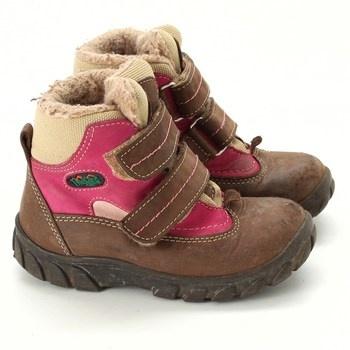 Dívčí zimní boty Fare hnědé