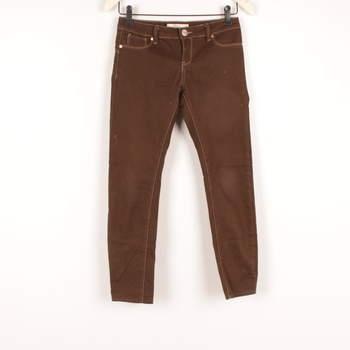 Dámské kalhoty Fishbone Skinny odstín hnědé