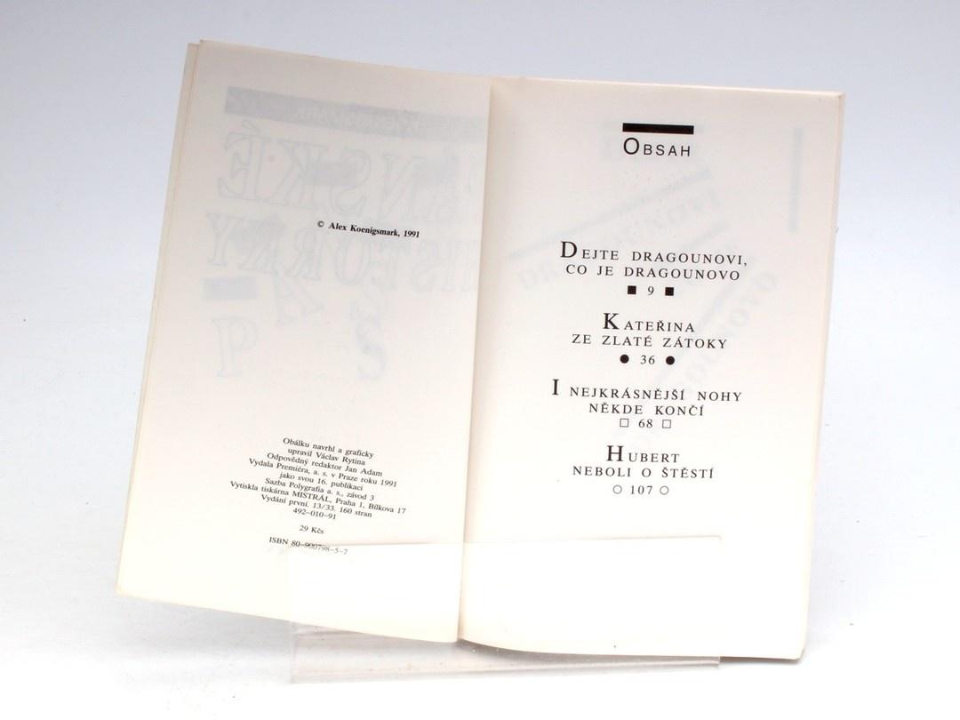 Kniha Alex Koenigsmark: Pánské historky