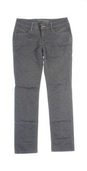 Dámské kostkované kalhoty Orsay šedé