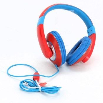 Dětská sluchátka Trust Sonin modročervená