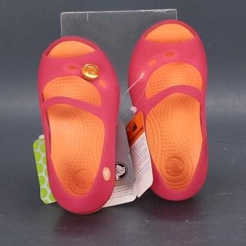 Dívčí sandále Crocs růžové