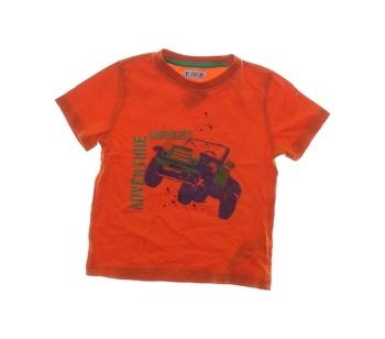 Dětské tričko F&F oranžové s terénním autem