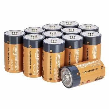 Alkalické baterie AmazonBasics LR14-12PK
