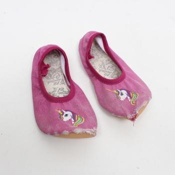 Gymnastická obuv s jednorožcem Beck
