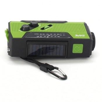 Solární rádio Sape TB-R2 zelené