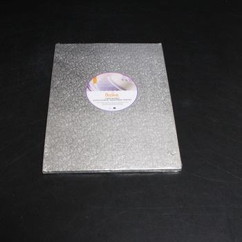 Dortová podložka Decora stříbrná