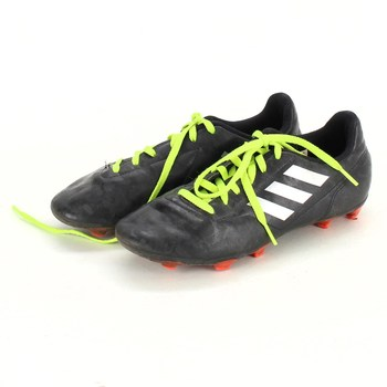 Dětská obuv Adidas černá zelené tkaničky
